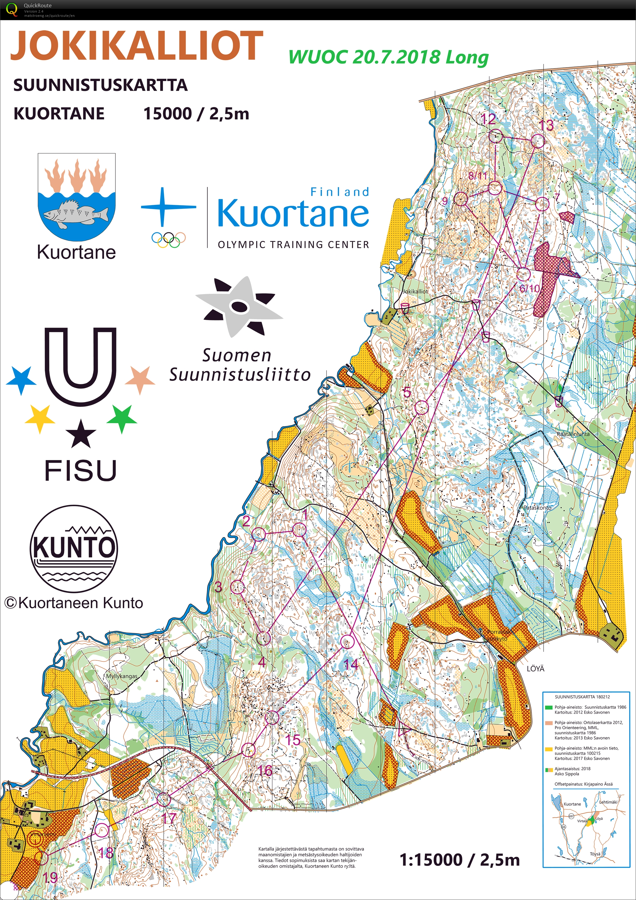 Wuoc 2018 Long July 20th 2018 Orienteering Map From Aleksi