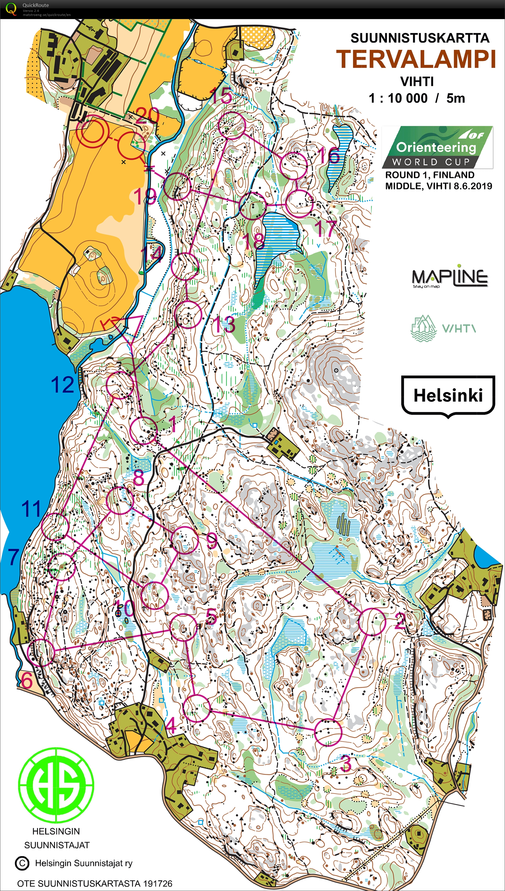 World Cup Middle June 8th 2019 Orienteering Map From Aleksi