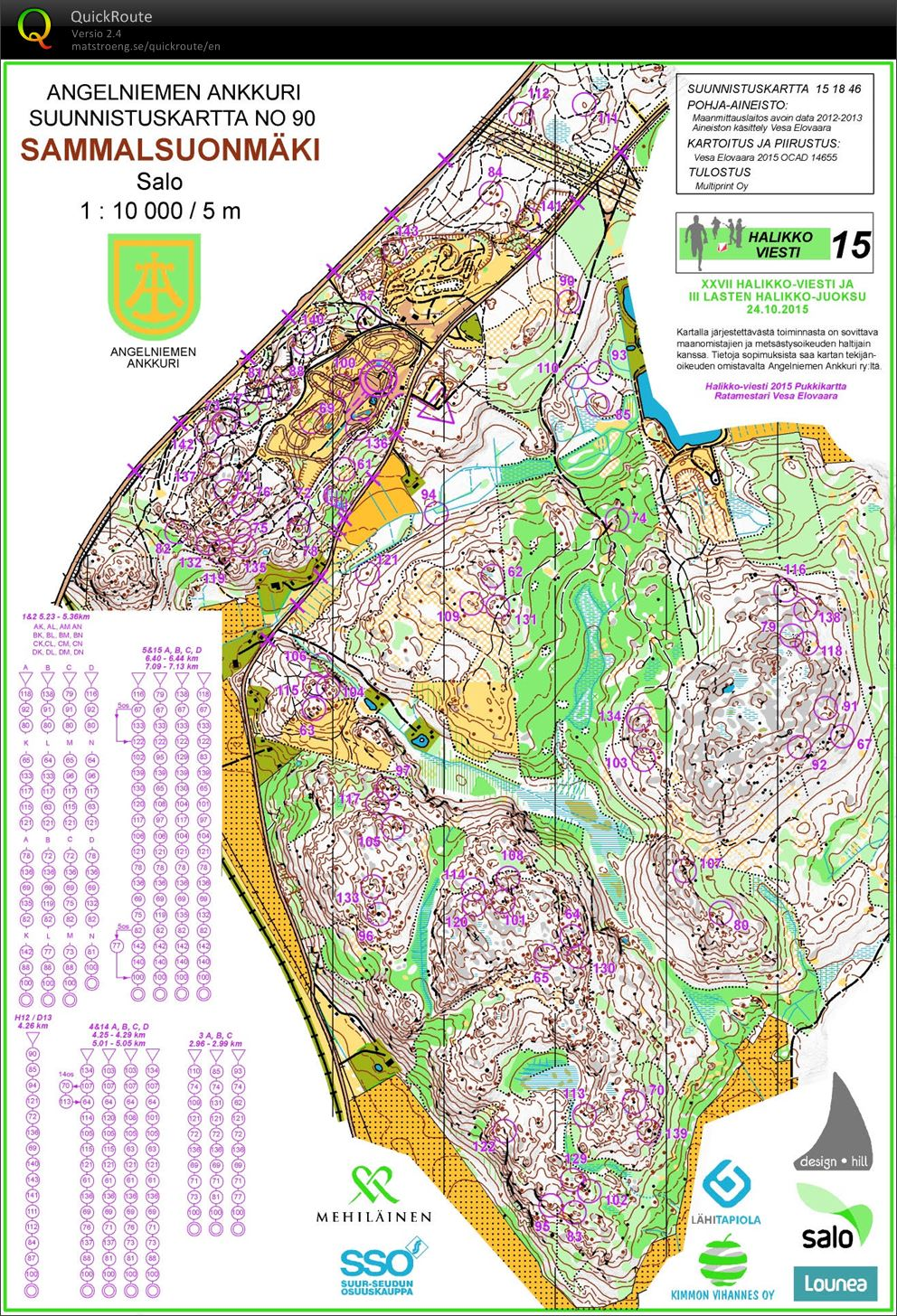 Halikko Viesti October 24th 2015 Orienteering Map From Juho Ylinen