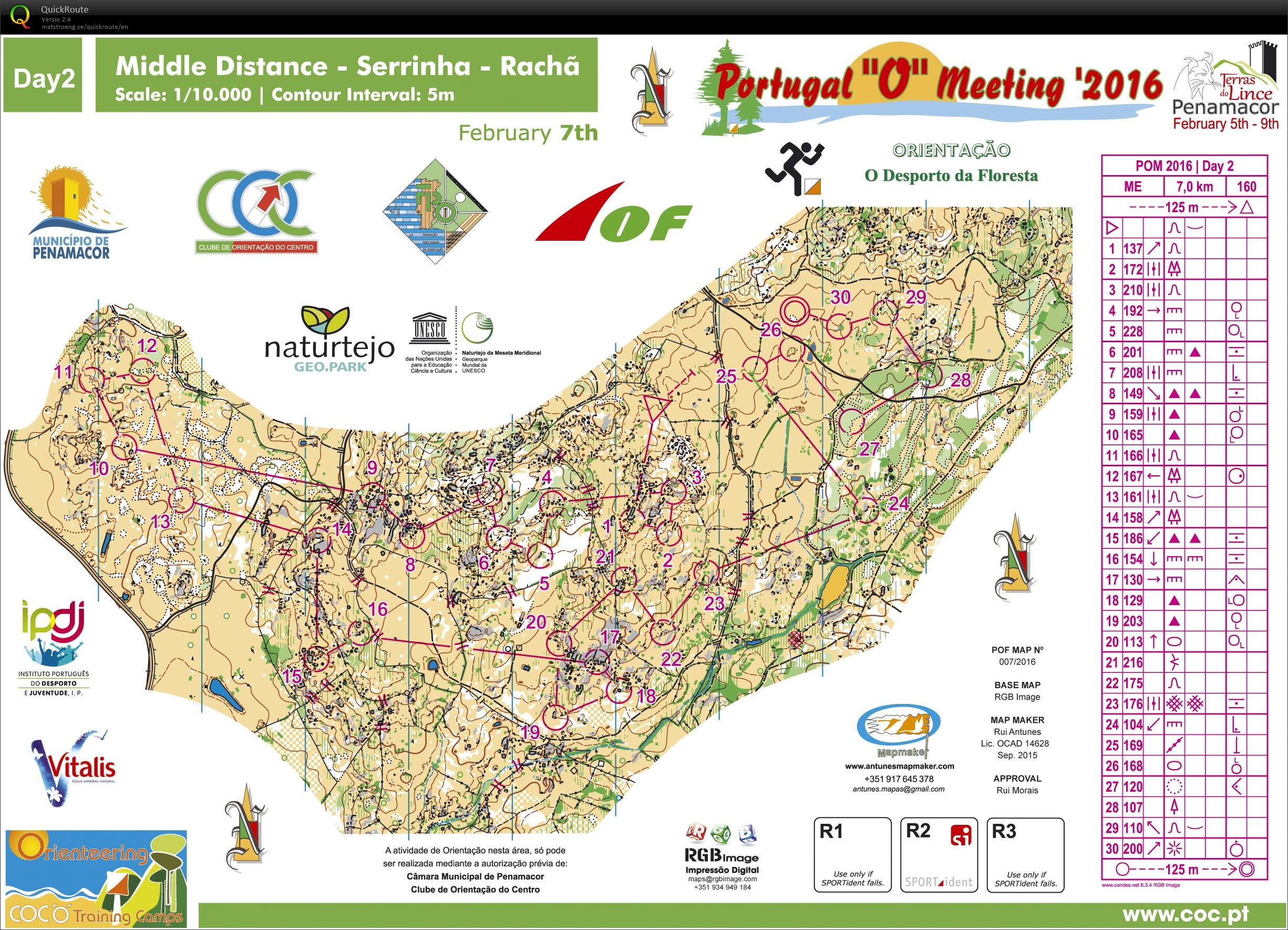 Portugal O Meeting 2 Pv February 7th 2016 Orienteering Map